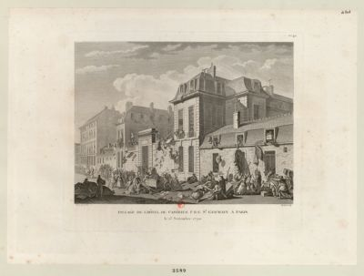 Pillage de l'Hôtel de Castries, fbg St Germain a Paris le 13 novembre 1790 : [estampe]