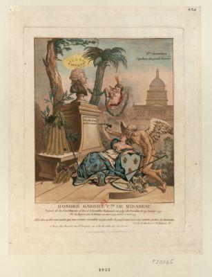 Honoré Gabriel c.te de Mirabeau député de la Sénéchaussée d'Aix à l'Assemblée nationale en 1789, élu président le 29 janvier 1791... : [estampe]
