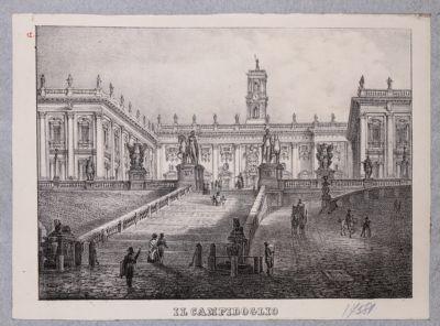 Campidoglio, scalea con sfondo dei palazzi