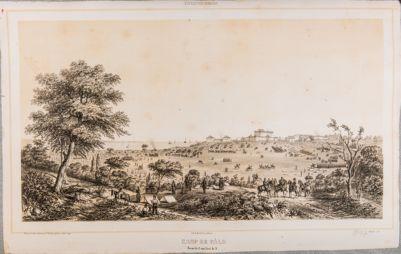 Palo. Campagna circostante e castello con l'occupazione francese