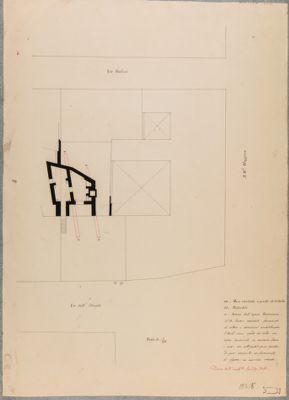 Esquilino:pianta di una casa romana rinvenuta fra via dell'Olmata e via Paolina