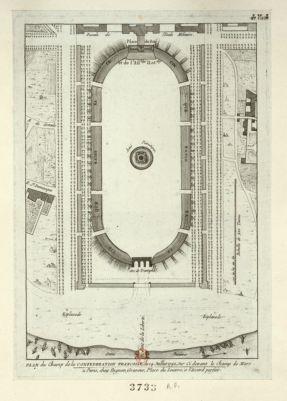 Plan du Champ de la confederation francoise du 14 juillet 1790, sur ci devant le Champ de Mars [estampe]