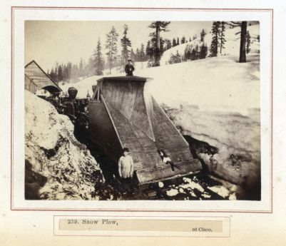 Snow Plow At Cisco. # 239, Photograph