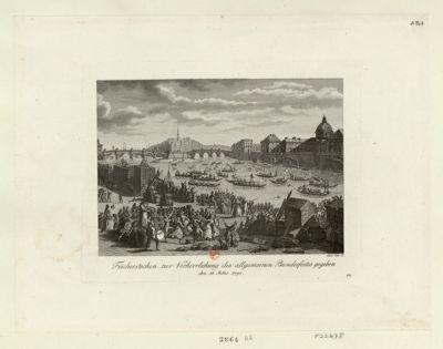 Fischerstechen zur Verherrlichung des allgemeinen Bundesfestes gegeben den 18. Julius 1790 : [estampe]