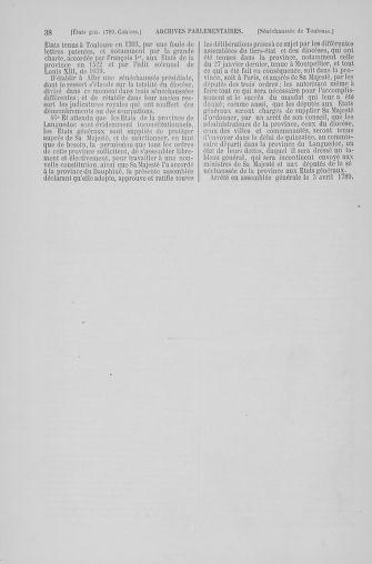 Tome 6 : 1789 – États généraux. Cahiers des sénéchaussées et baillages [Toul - Vitry-le-François] - page 38
