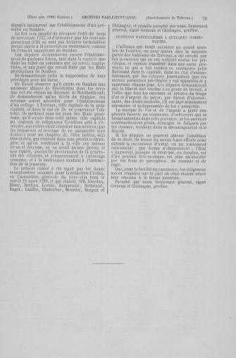 Tome 6 : 1789 – États généraux. Cahiers des sénéchaussées et baillages [Toul - Vitry-le-François] - page 71