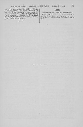 Tome 6 : 1789 – États généraux. Cahiers des sénéchaussées et baillages [Toul - Vitry-le-François] - page 133