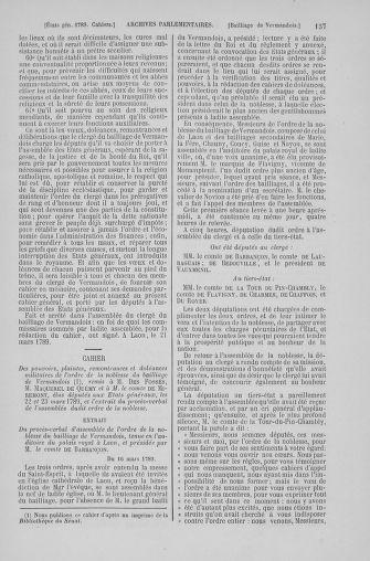 Tome 6 : 1789 – États généraux. Cahiers des sénéchaussées et baillages [Toul - Vitry-le-François] - page 137