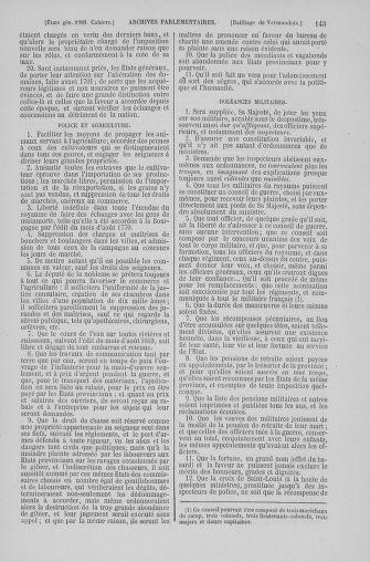 Tome 6 : 1789 – États généraux. Cahiers des sénéchaussées et baillages [Toul - Vitry-le-François] - page 143