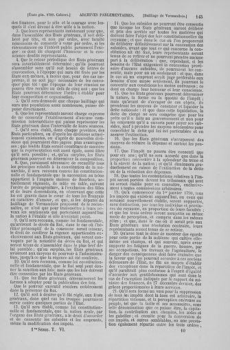 Tome 6 : 1789 – États généraux. Cahiers des sénéchaussées et baillages [Toul - Vitry-le-François] - page 145