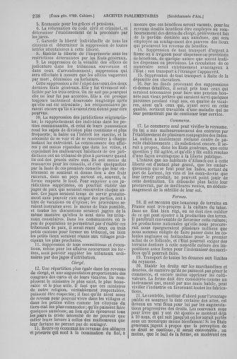 Tome 6 : 1789 – États généraux. Cahiers des sénéchaussées et baillages [Toul - Vitry-le-François] - page 238
