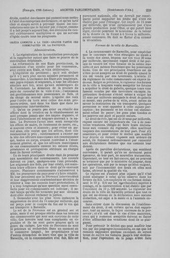 Tome 6 : 1789 – États généraux. Cahiers des sénéchaussées et baillages [Toul - Vitry-le-François] - page 239