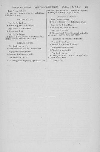 Tome 6 : 1789 – États généraux. Cahiers des sénéchaussées et baillages [Toul - Vitry-le-François] - page 491