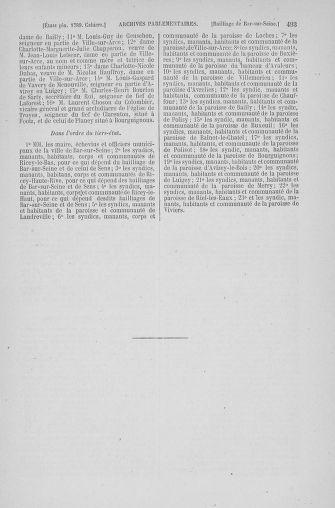 Tome 6 : 1789 – États généraux. Cahiers des sénéchaussées et baillages [Toul - Vitry-le-François] - page 493
