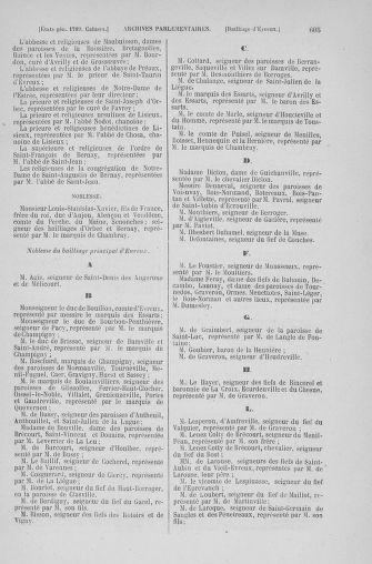 Tome 6 : 1789 – États généraux. Cahiers des sénéchaussées et baillages [Toul - Vitry-le-François] - page 605