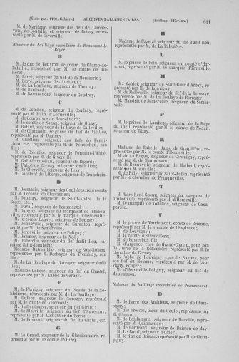 Tome 6 : 1789 – États généraux. Cahiers des sénéchaussées et baillages [Toul - Vitry-le-François] - page 611
