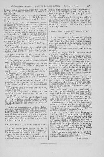 Tome 6 : 1789 – États généraux. Cahiers des sénéchaussées et baillages [Toul - Vitry-le-François] - page 647