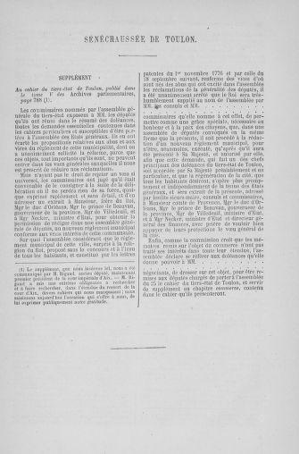 Tome 6 : 1789 – États généraux. Cahiers des sénéchaussées et baillages [Toul - Vitry-le-François] - page 701