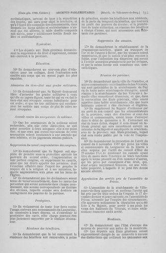 Tome 6 : 1789 – États généraux. Cahiers des sénéchaussées et baillages [Toul - Vitry-le-François] - page 713