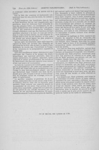 Tome 6 : 1789 – États généraux. Cahiers des sénéchaussées et baillages [Toul - Vitry-le-François] - page 720