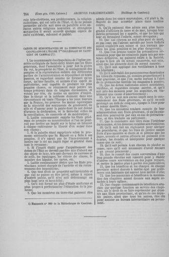 Tome 6 : 1789 – États généraux. Cahiers des sénéchaussées et baillages [Toul - Vitry-le-François] - page 754