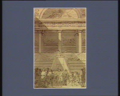 [Ouverture des Etats généraux le cinq mai 1789] [dessin]