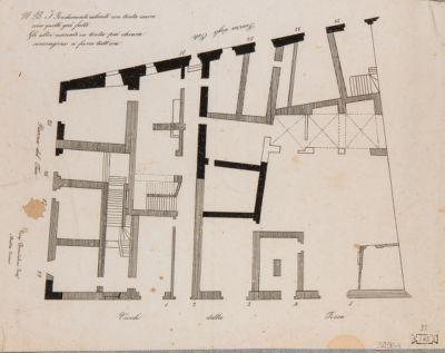 Casa in piazza del Fico, pianta