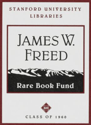 James W. Freed (Class of 1960) Rare Book Fund