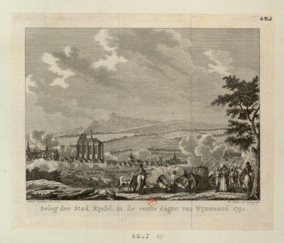 Beleg der Stad Rijssel, in de eerste dagen van Wijnmaand <em>1792</em> [estampe]