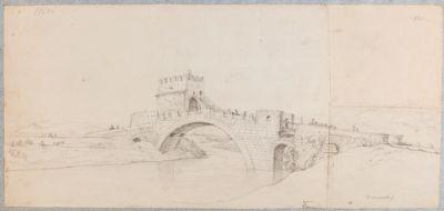 Ponte Salario, veduta generale di fianco