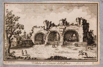 Basilica di Costantino, veduta del tempio della Pace