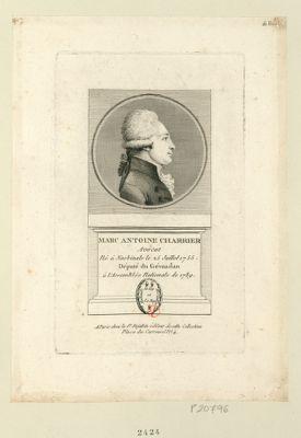 Marc Antoine Charrier avocat né à Nasbinals le 25 juillet 1755 député du Gévaudan à l'Assemblée nationale de 1789 : [estampe]