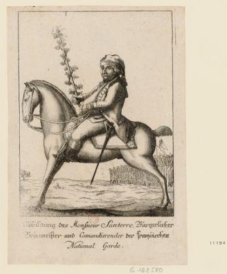 Abbildung des Monsieur Santerre, Bürgerlicher Brünmeister und Comandierender der franzöischen National Garde [estampe]