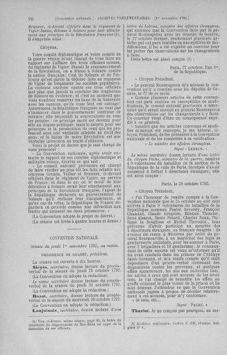 Tome 53 : Du 27 octobre au 30 novembre 1792 - page 98