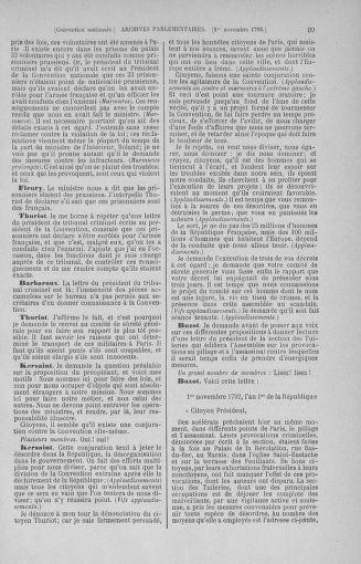 Tome 53 : Du 27 octobre au 30 novembre 1792 - page 99