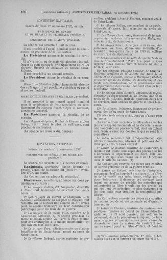 Tome 53 : Du 27 octobre au 30 novembre 1792 - page 108