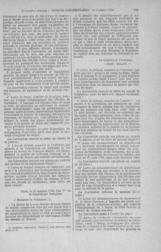 Tome 53 : Du 27 octobre au 30 novembre 1792 - page 109