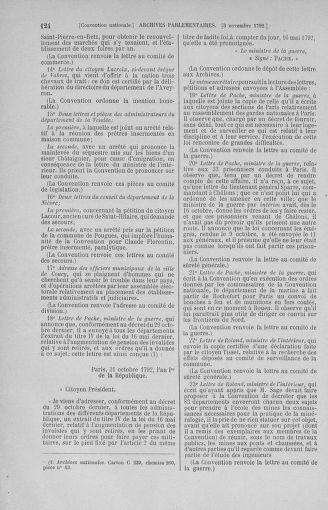 Tome 53 : Du 27 octobre au 30 novembre 1792 - page 124