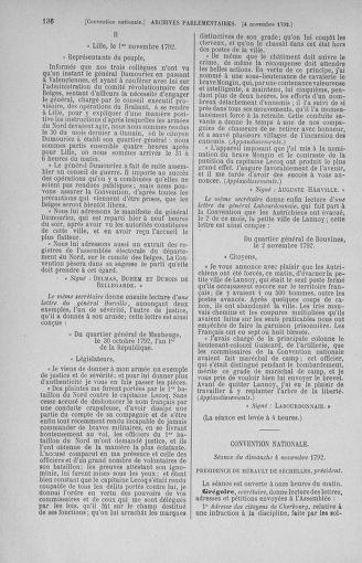 Tome 53 : Du 27 octobre au 30 novembre 1792 - page 136