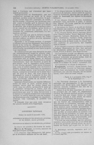 Tome 53 : Du 27 octobre au 30 novembre 1792 - page 198