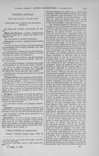 Tome 53 : Du 27 octobre au 30 novembre 1792 - page 273