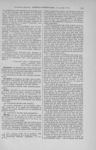 Tome 53 : Du 27 octobre au 30 novembre 1792 - page 275