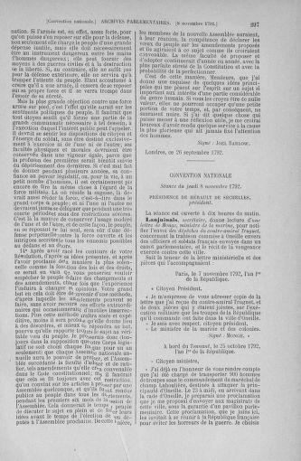 Tome 53 : Du 27 octobre au 30 novembre 1792 - page 297