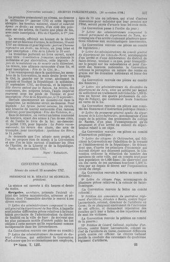 Tome 53 : Du 27 octobre au 30 novembre 1792 - page 337