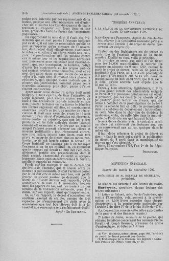 Tome 53 : Du 27 octobre au 30 novembre 1792 - page 376