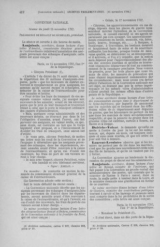 Tome 53 : Du 27 octobre au 30 novembre 1792 - page 412