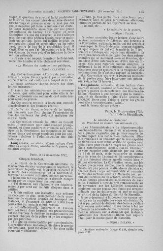 Tome 53 : Du 27 octobre au 30 novembre 1792 - page 413