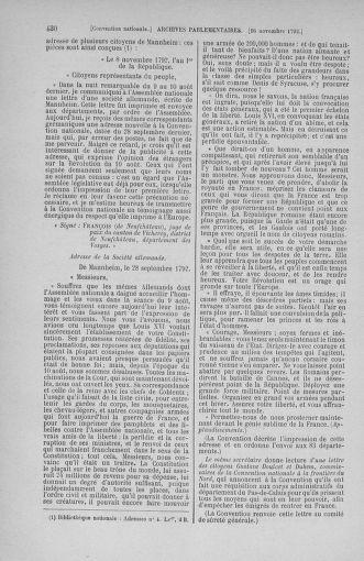 Tome 53 : Du 27 octobre au 30 novembre 1792 - page 430