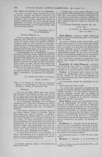 Tome 53 : Du 27 octobre au 30 novembre 1792 - page 460