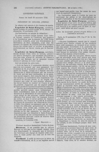 Tome 53 : Du 27 octobre au 30 novembre 1792 - page 486